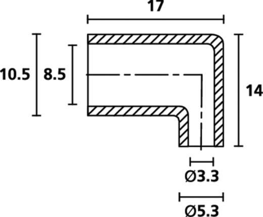 HellermannTyton HV4821 PVC-FR NA 2000 Winkeltülle Klemm-Ø (max.) 5.3 mm PVC Transparent 1 St.