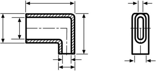 HellermannTyton HV4821 PVC-FR BK 2000 Winkeltülle Klemm-Ø (max.) 5.3 mm PVC Schwarz 1 St.