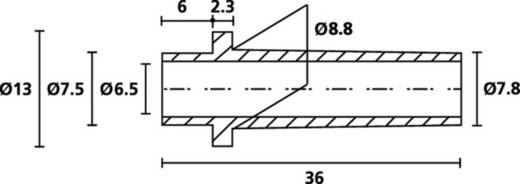 HellermannTyton HV2209 PVC-FR BK 1000 Knickschutztülle Klemm-Ø (max.) 7.8 mm PVC Schwarz 1 St.