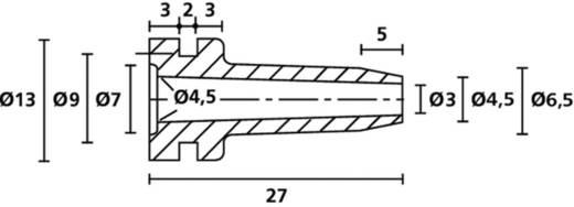 HellermannTyton HV2103 PVC-FR BK 1000 Knickschutztülle Klemm-Ø (max.) 4.5 mm PVC Schwarz 1 St.
