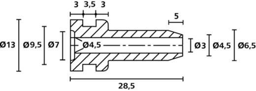 HellermannTyton HV2206 PVC-FR BK 500 Knickschutztülle Klemm-Ø (max.) 5.6 mm PVC Schwarz 1 St.