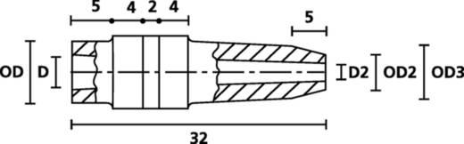 HellermannTyton H126 PVC BK 1000 Schnurschutzformtülle Klemm-Ø (max.) 5 mm PVC Schwarz 1 St.