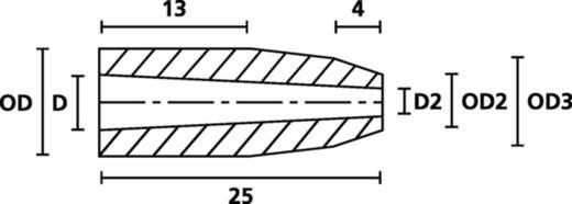 HellermannTyton H121 PVC-FR BK 500 Schnurschutzformtülle Klemm-Ø (max.) 8 mm PVC Schwarz 1 St.