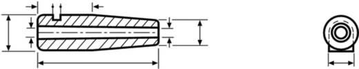 HellermannTyton H125 PVC BK 1000 Schnurschutzformtülle Klemm-Ø (max.) 4 mm PVC Schwarz 1 St.