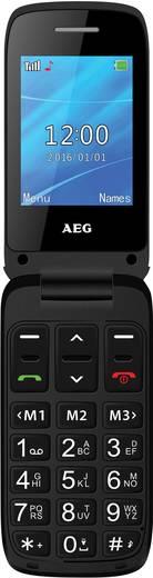 AEG SM420 Senioren-Klapp-Handy SOS Taste Schwarz