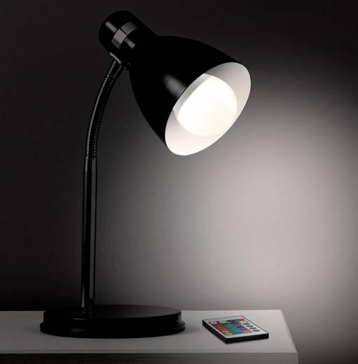 Basetech LED EEK A (A++ - E) E27 Glühlampenform 6 W RGBW (Ø x L) 60 mm x 108 mm colorchanging, dimmbar, inkl. Fernbedien