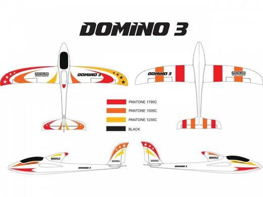 Pichler Domino 3 M2 Rot RC Segelflugmodell RtF 1420 mm