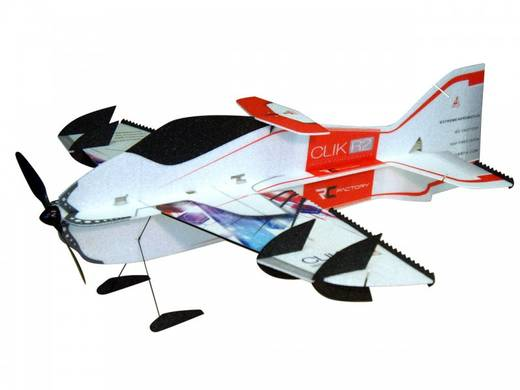 RC Factory Clik R2 Superlite Rot RC Indoor-, Microflugmodell Bausatz 840 mm