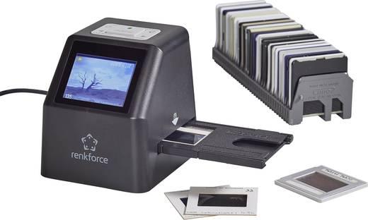 Renkforce DS100-5M Diascanner, Negativscanner 5 Mio. Pixel Digitalisierung ohne PC, Display, Speicherkarten-Steckplatz,