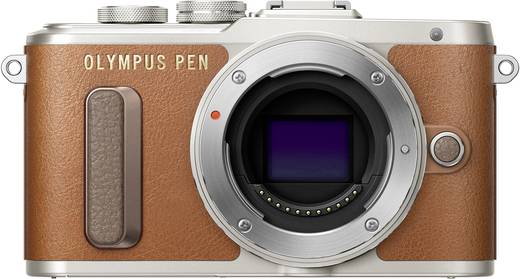 Systemkamera Olympus -PL8 Gehäuse (Body), inkl. Akku 17.2 Mio. Pixel Braun WiFi
