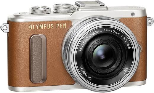 Systemkamera Olympus -PL8 M 14-42 mm inkl. Akku 17.2 Mio. Pixel Braun WiFi