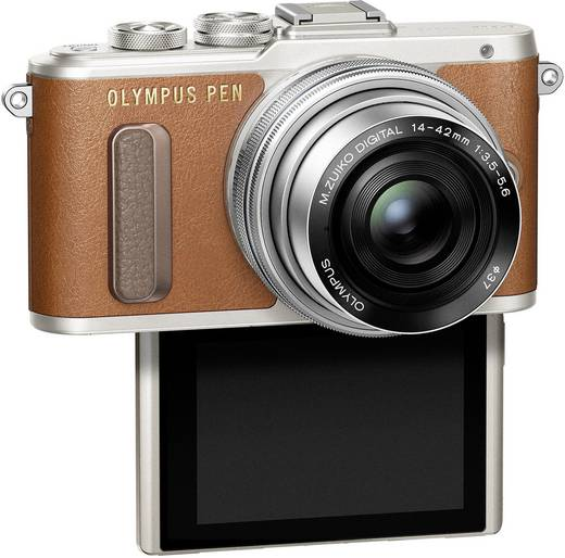 Systemkamera Olympus -PL8 inkl. Akku Braun