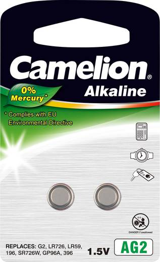 Knopfzelle LR 59 Alkali-Mangan Camelion AG2 25 mAh 1.5 V 2 St.