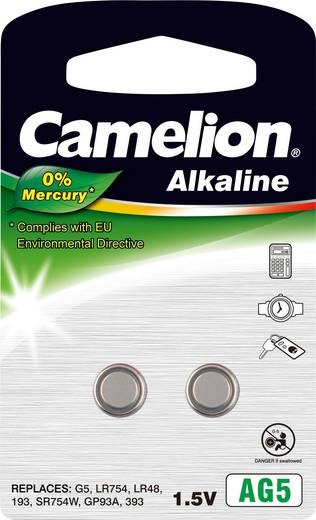 Knopfzelle LR 48 Alkali-Mangan Camelion AG5 66 mAh 1.5 V 2 St.