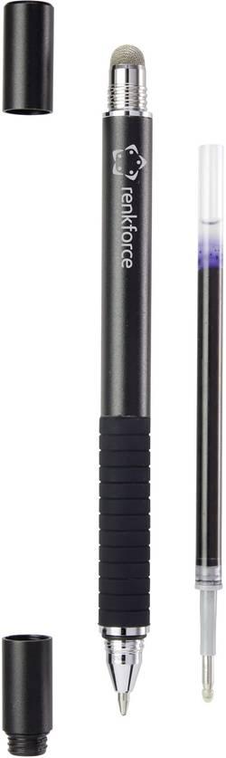 Dotykové pero Renkforce RF-STYLUS-2IN1PEN-CSP, černá