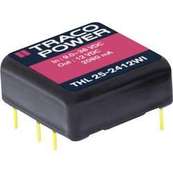 DC / DC menič napätia, DPS TracoPower THL 25-2413WI, 24 V/DC, 15 V/DC, 1670 mA, 25 W