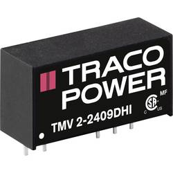 DC / DC menič napätia, DPS TracoPower TMV 2-1515DHI, 15 V/DC, 15 V/DC, -15 V/DC, 650 mA, 1 W