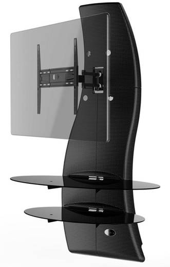 meliconi ghost design 2000 rotation carbon tv wandhalterung 81 3 cm 32 160 0 cm 63. Black Bedroom Furniture Sets. Home Design Ideas