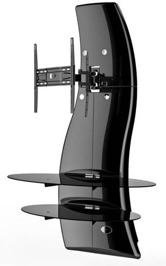 meliconi ghost design 2000 rotation gloss black tv wandhalterung 81 3 cm 32 160 0 cm 63. Black Bedroom Furniture Sets. Home Design Ideas