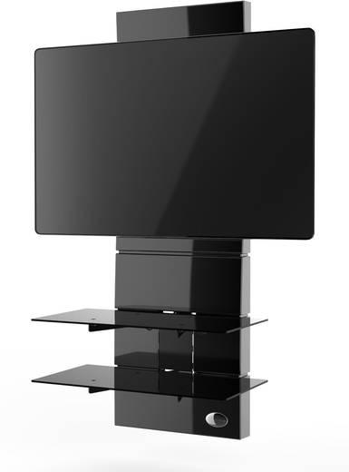 meliconi ghost design 3000 fix gloss black tv wandhalterung 81 3 cm 32 160 0 cm 63 starr. Black Bedroom Furniture Sets. Home Design Ideas