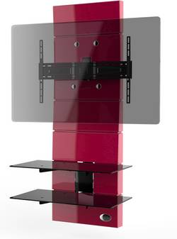 Support mural TV Meliconi Ghost Design 3000 Fix Red rigide rouge