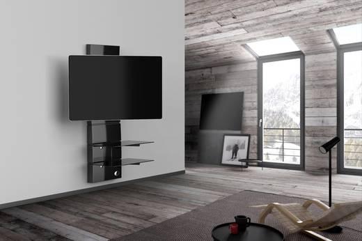 meliconi ghost design 3000 rotation gloss black tv wandhalterung 81 3 cm 32 160 0 cm 63. Black Bedroom Furniture Sets. Home Design Ideas