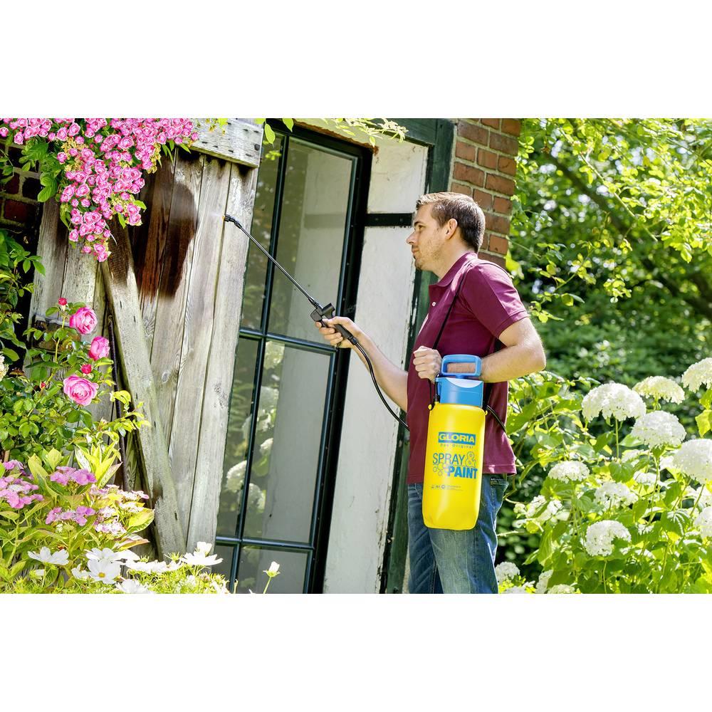 Pump pressure sprayer 5 l spray paint 5l gloria haus und for Haus garten