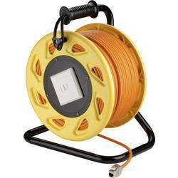 RJ45 síťový naviják kabelu S/FTP Goobay [1x RJ45 zásuvka - 1x RJ45 zásuvka] 50 m oranžová