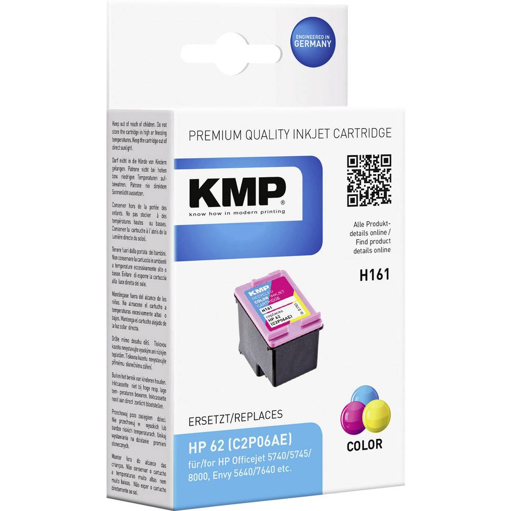 kmp encre remplace hp c2p06ae 62 compatible cyan magenta. Black Bedroom Furniture Sets. Home Design Ideas