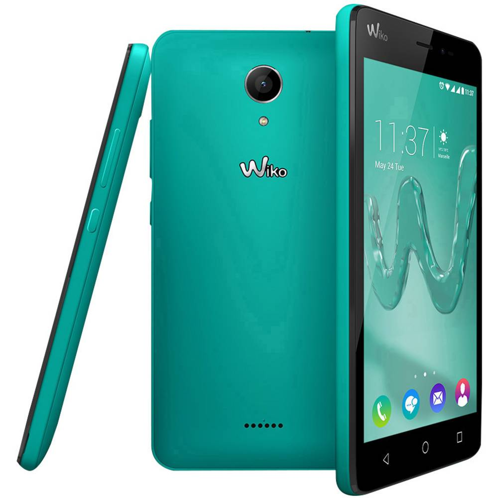 smartphone 4g 5 pouces wiko freddy 8 go turquoise. Black Bedroom Furniture Sets. Home Design Ideas