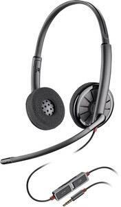 Plantronics Blackwire C225 Telefon-Headset 3.5 mm Klinke schnurgebunden On  Ear Schwarz 4937715772