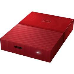 """Externí HDD 6,35 cm (2,5"""") WD My Passport™, 3 TB, USB 3.0, červená"""