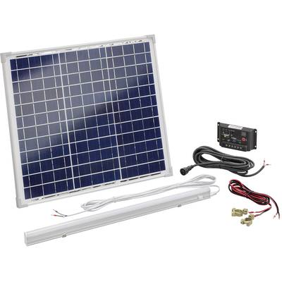 esotec 120006 solar set 30 wp inkl laderegler mit led. Black Bedroom Furniture Sets. Home Design Ideas