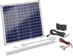 Solární sada a LED osvětlením Esotec 120006, 30 Wp, vč. nabíjecího regulátoru