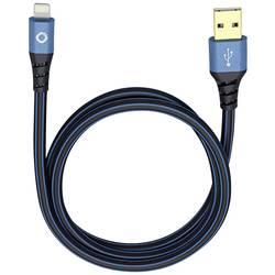 IPad/iPhone/iPod dátový kábel/nabíjací kábel Oehlbach 9323, 1.5 m, modročierna