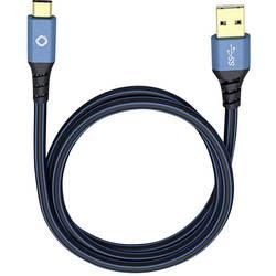 USB 3.0 prepojovací kábel Oehlbach USB Plus C3 9328, 3.00 m, modrá