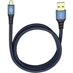 USB 2.0 prepojovací kábel Oehlbach USB Plus Micro 9330, 0.5 m, modrá