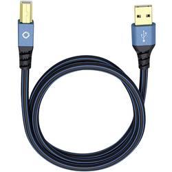 USB 2.0 prepojovací kábel Oehlbach USB Plus B 9340, 0.50 m, modrá