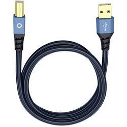 USB 2.0 prepojovací kábel Oehlbach USB Plus B 9341, 1.00 m, modrá