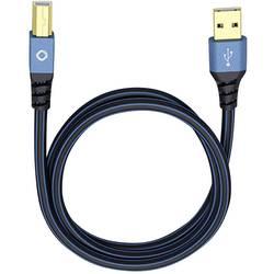 USB 2.0 prepojovací kábel Oehlbach USB Plus B 9345, 7.50 m, modrá