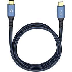 USB 3.0 prepojovací kábel Oehlbach USB Plus CC 9353, 3.00 m, modrá