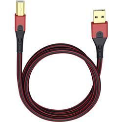 USB 2.0 prepojovací kábel Oehlbach USB Evolution B 9424, 5.00 m, červená/čierna