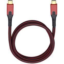 USB 3.0 prepojovací kábel Oehlbach USB Evolution CC 9433, 3.00 m, červená/čierna
