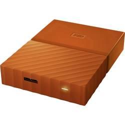 """Externý pevný disk 6,35 cm (2,5"""") WD My Passport, 4 TB, USB 3.0, oranžová"""