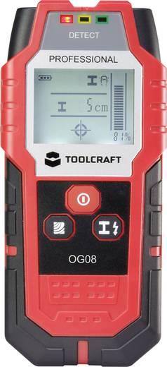 TOOLCRAFT Ortungsgerät OG 08 Ortungstiefe (max.) 80 mm Geeignet für nicht eisenhaltiges Metall, eisenhaltiges Metall,