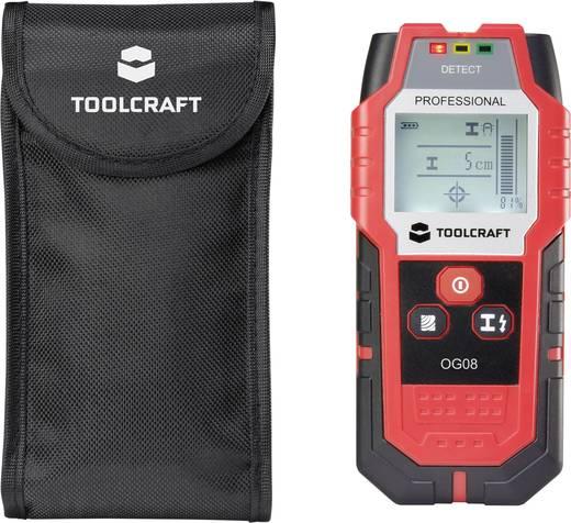 Ortungsgerät TOOLCRAFT OG 08 Ortungstiefe (max.) 80 mm Geeignet für nicht eisenhaltiges Metall, eisenhaltiges Metall,