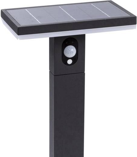 solar au enstandleuchte mit bewegungsmelder 2 7 w warm wei heitronic 37298 ariane schwarz kaufen. Black Bedroom Furniture Sets. Home Design Ideas