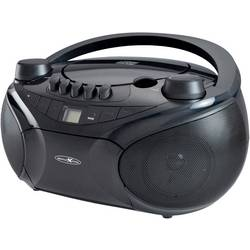 FM rádio s CD prehrávačom Reflexion RCR4655, AUX, CD, kazeta, SD, USB, UKW, čierna