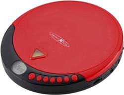 Discman - přenosný CD přehrávač s FM rádiem Reflexion PCD510MF, CD, CD-R, CD-RW, MP3, červená