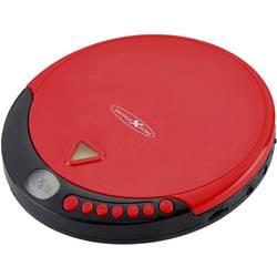 Prenosný CD prehrávač - diskman s FM rádiom Reflexion PCD510MF, CD, CD-R, CD-RW, MP3, červená